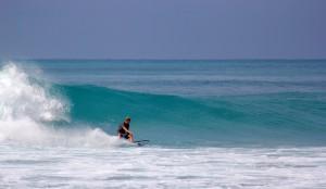 Surfing Apple Bay Tortola BVI