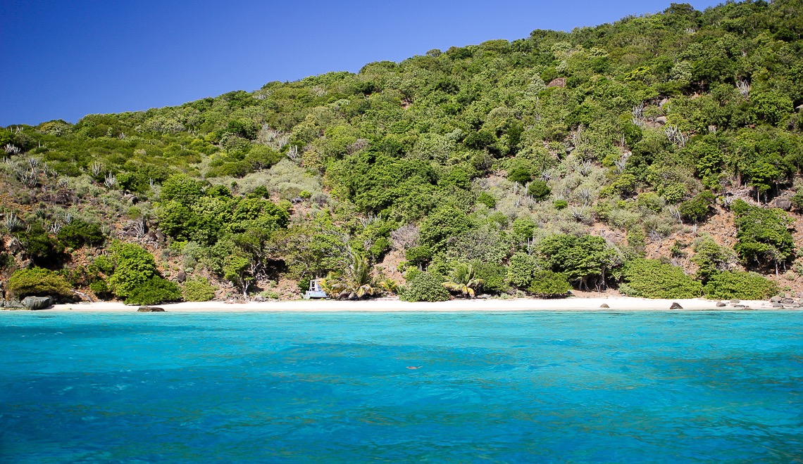 Beach on Little Jost in the BVI