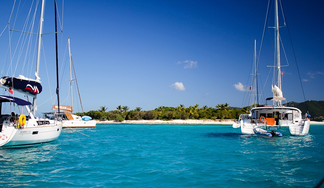 Sailtrip to BVI Sandy Cay