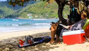 Apple Bay Beach on Tortola