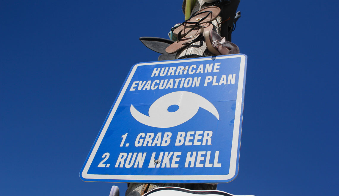 Local road sign for residents on Anegada