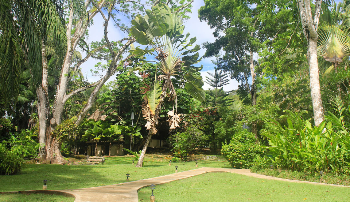 Garden at the Lodge at Chaa Creek in Cayo, Belize