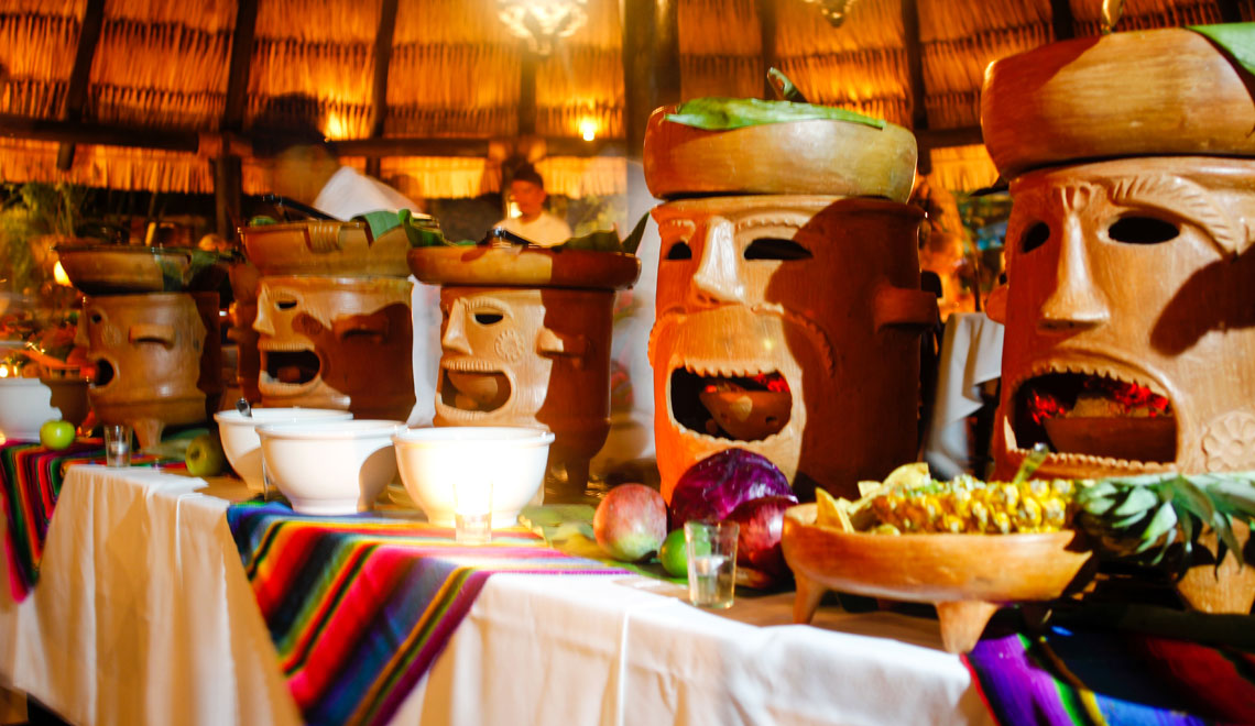 Mayan Buffet the Lodge at Chaa Creek