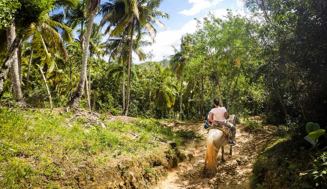 Horseback ride to Cascada Limon in Samana