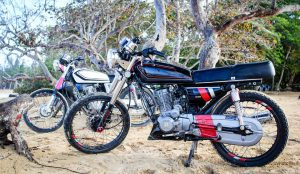 Take a ride on a moped in Samana