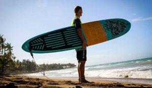 Surfing at Playa Bonita, Las Terrenas, Samana