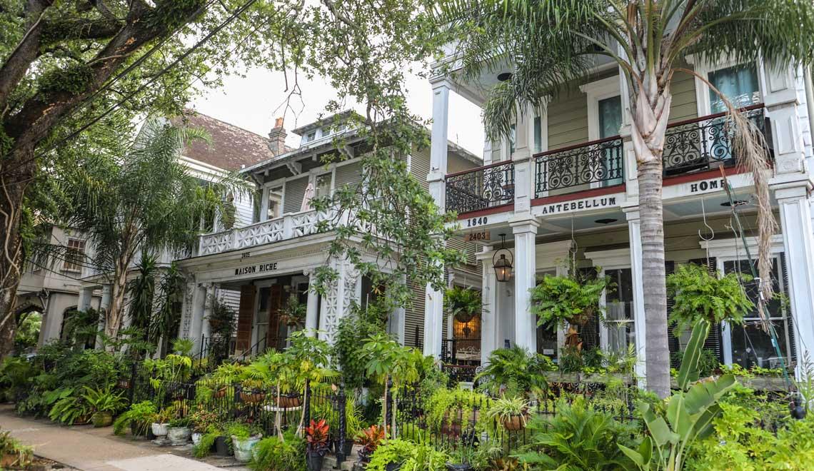 Walking around the Garden District in New Orleans