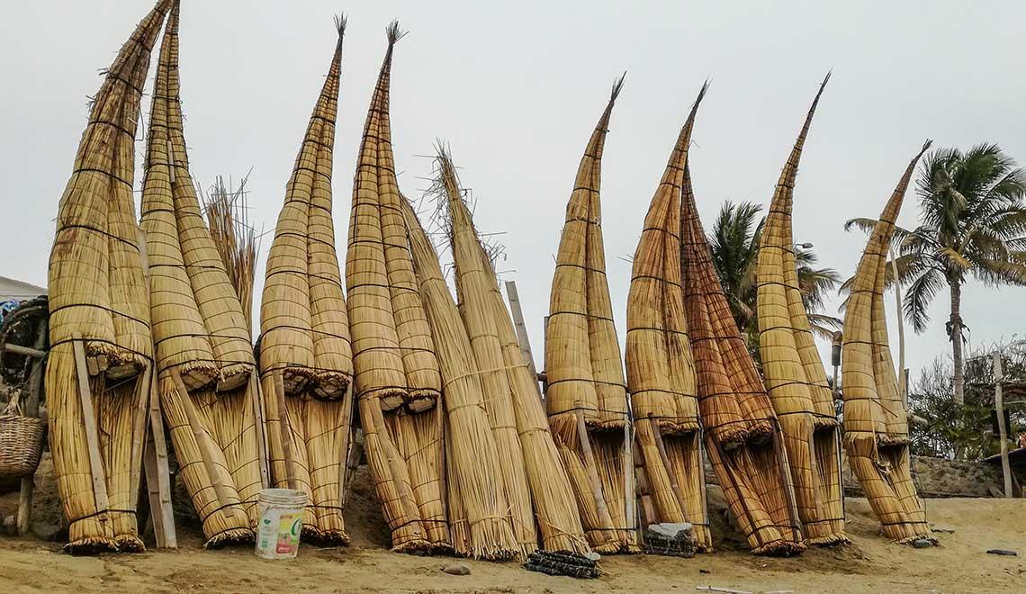 Caballitos de Totora in Huanchaco