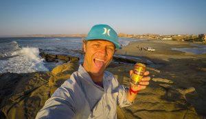 Lobitos sunset after surfing in Peru