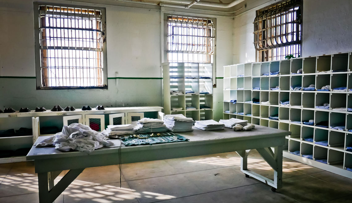 Laundry room in Alcatraz
