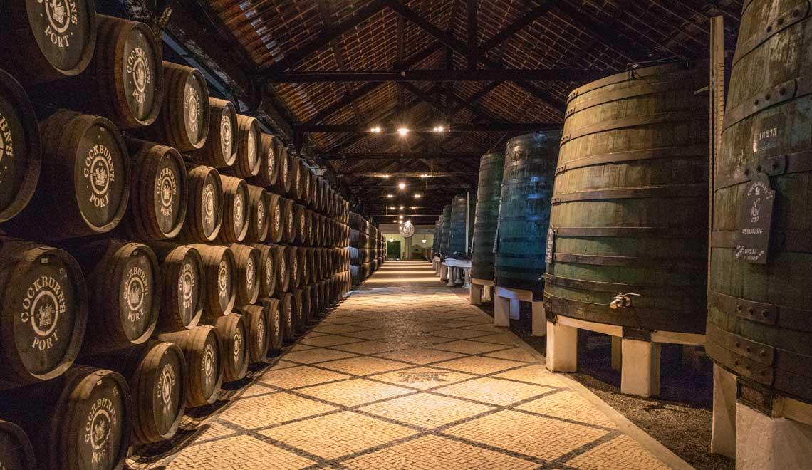 Port wine cellar in Porto