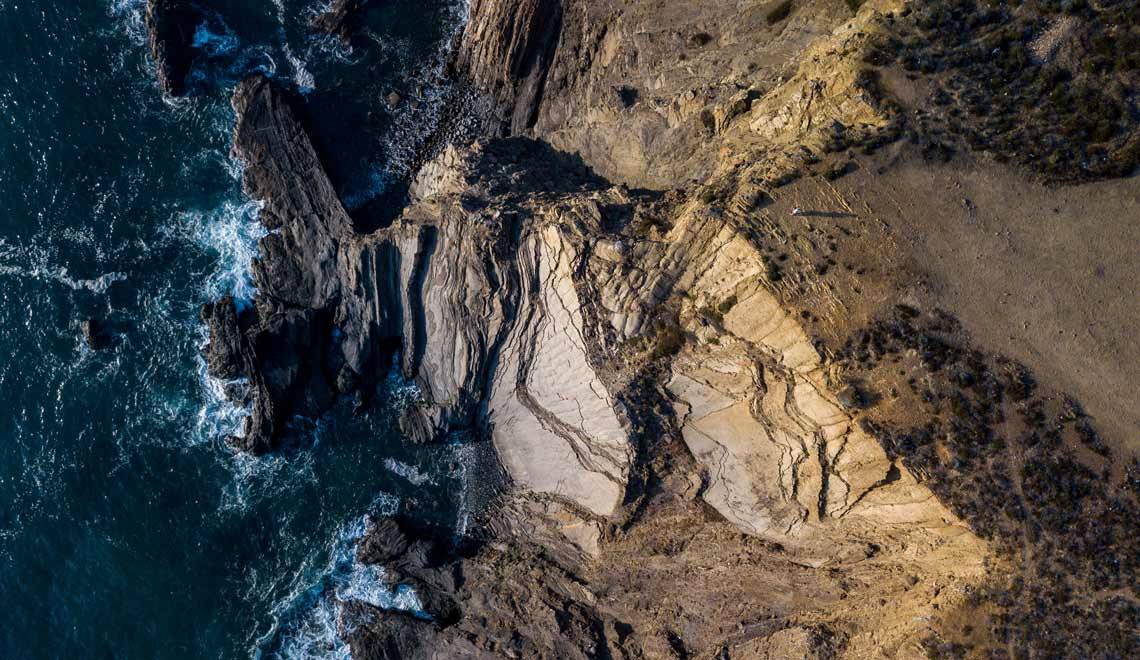 Cliffs on the coast in Aljezur