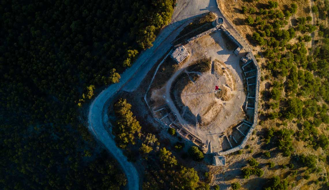 Drone view of the Moorish castle in Aljezur