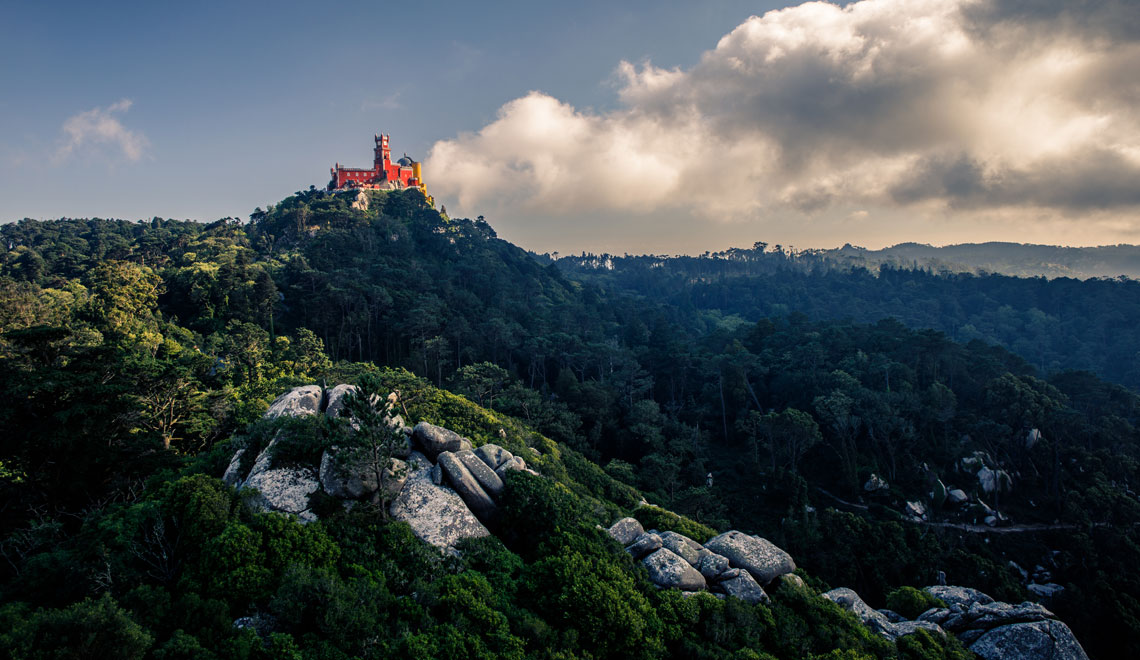 A mystical palace in Sintra in the clouds