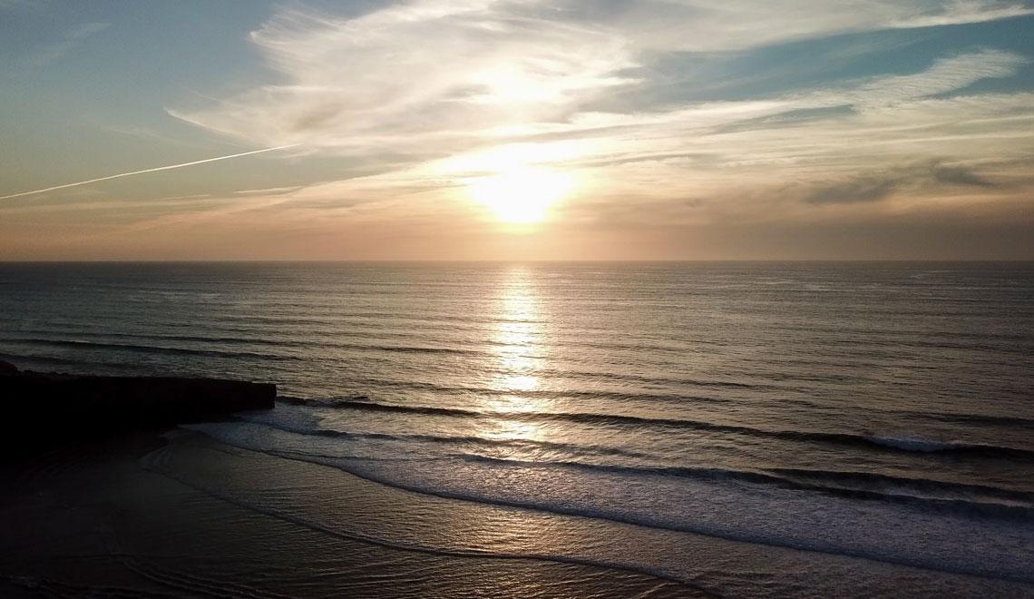 Sunset over Praia da Amoreira
