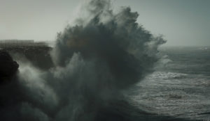 Huge storm waves in Sagres Portugal