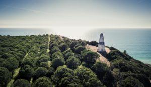 Triangulation point in the Algarve near Praia da Luz